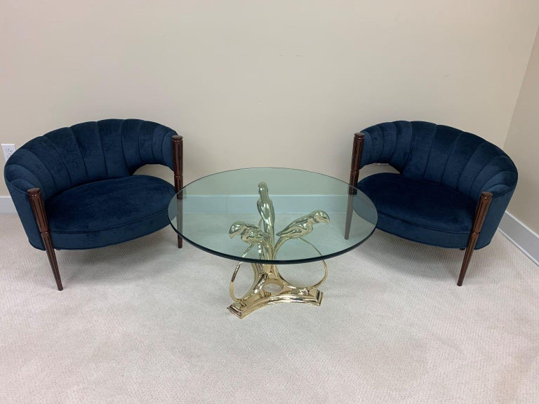 Sergio Bustamante Brass Midcentury Hollywood Regency Coffee Table, circa 1970s For Sale 2
