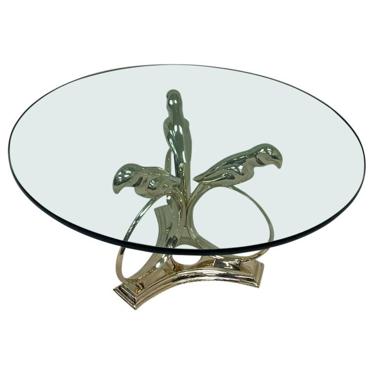 Sergio Bustamante Brass Midcentury Hollywood Regency Coffee Table, circa 1970s For Sale