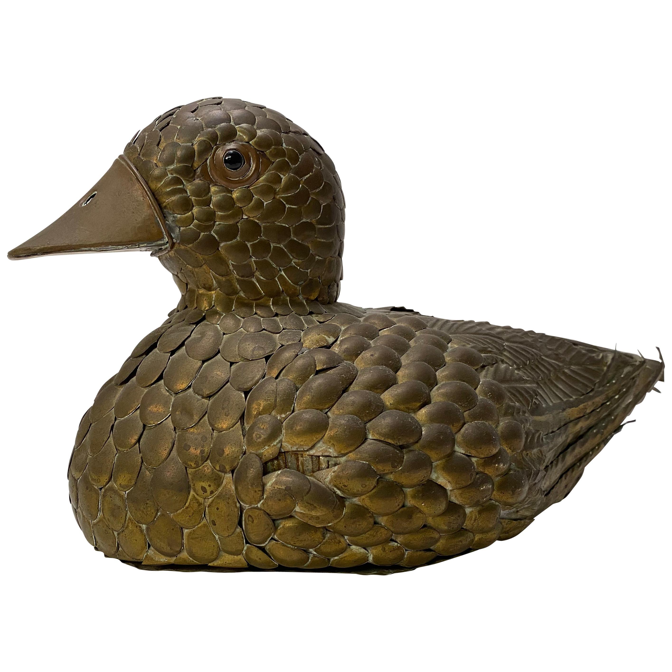 Sergio Bustamante Copper and Brass Duck
