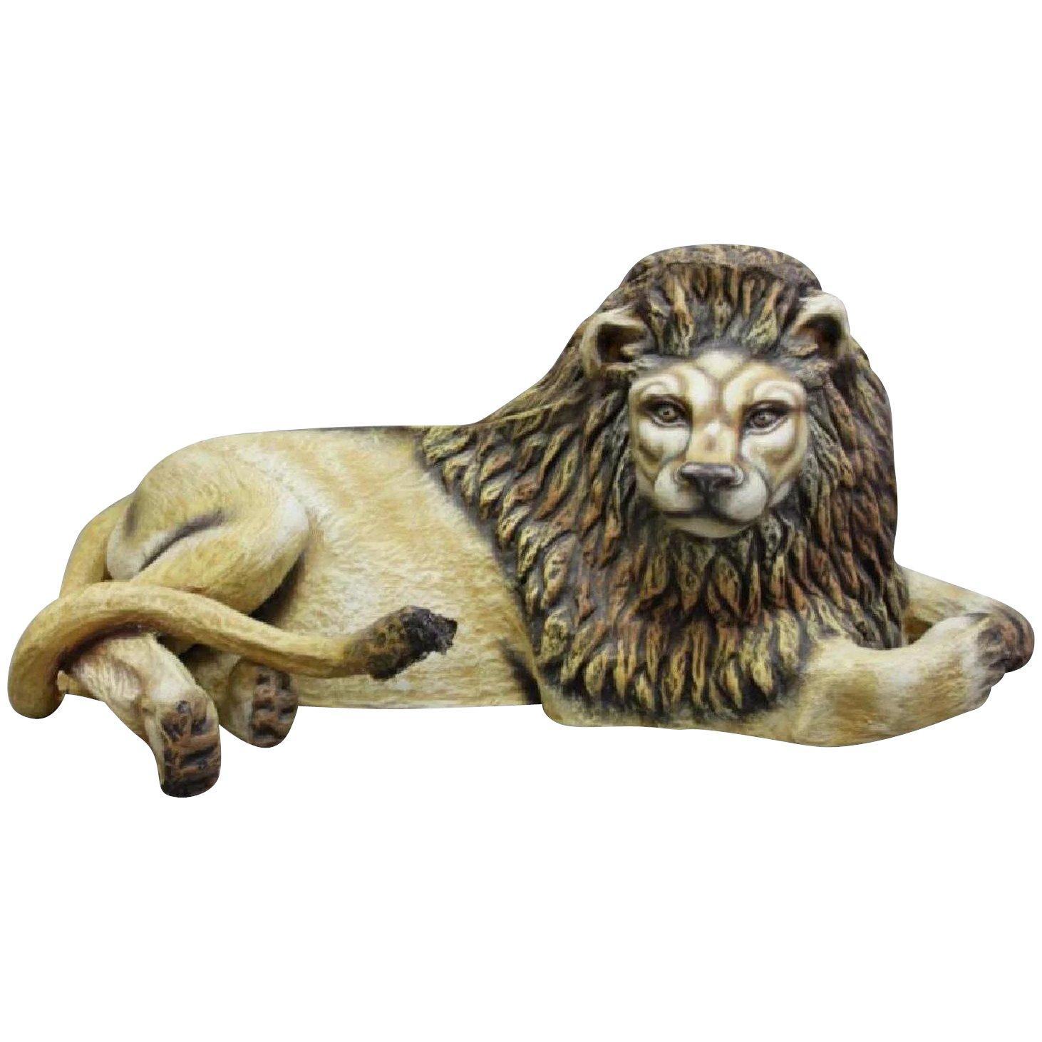 Sergio Bustamante Early Lion Papier-mâché Sculpture Hand-painted, 1975