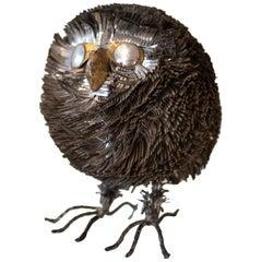 Sergio Bustamante Metal Owl Sculpture
