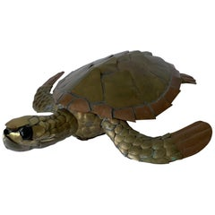 Sergio Bustamante Mixed Metal Sea Turtle