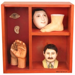 Sergio Bustamante Surrealist-Style Shadow Box Sculpture