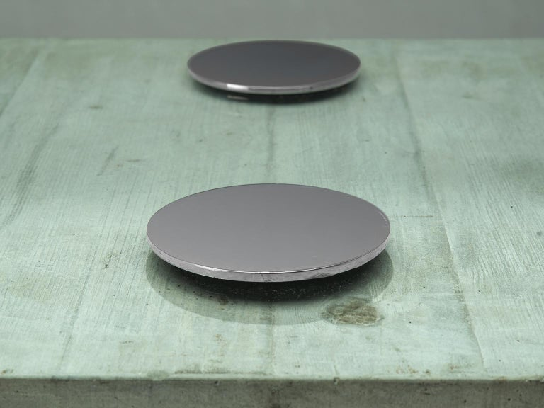 Sergio & Giorgio Saporiti Coffee Tabel in Concrete and Glass For Sale 1