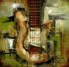 Attitude IV, Mixed Media on Canvas