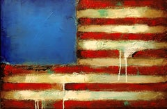 Old Glory, Mixed Media on Canvas