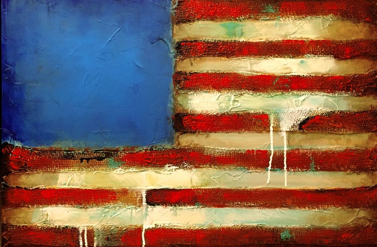 Old Glory, Mixed Media on Canvas - Mixed Media Art by Sergio Lazo