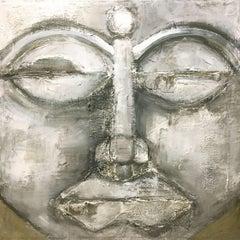 Buddha, Painting, Acrylic on Wood Panel