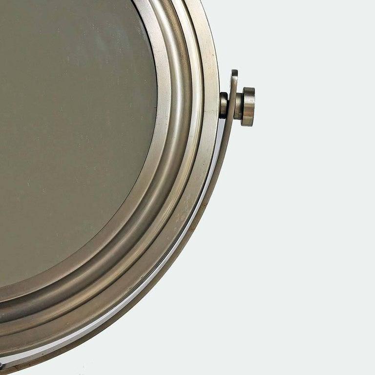 Mid-Century Modern Sergio Mazza by Artemide 1970s Italian Design Table Mirror For Sale