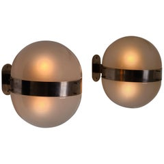 Sergio Mazza Clio Wall Lamps Fro Artemide, Italy 1960s, Set of Two