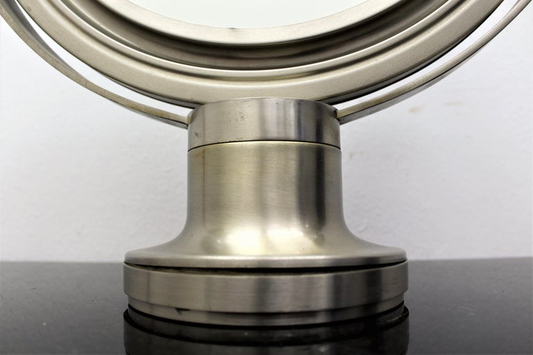 Sergio Mazza for Artemide 1960s Modern Design Table Mirror For Sale 5