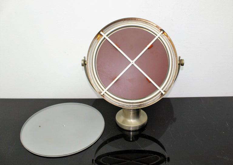 Sergio Mazza for Artemide 1960s Modern Design Table Mirror For Sale 6