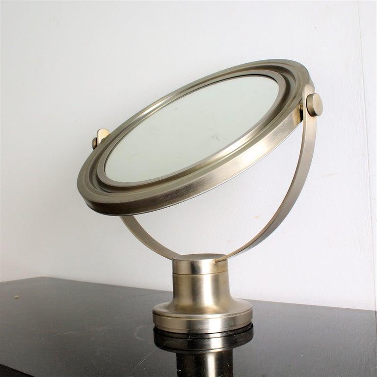 Mid-Century Modern Sergio Mazza for Artemide 1960s Modern Design Table Mirror For Sale