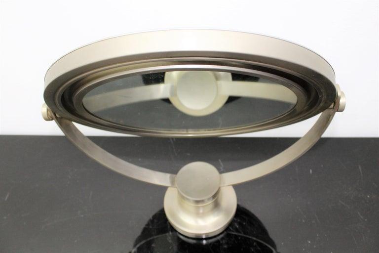 Italian Sergio Mazza for Artemide 1960s Modern Design Table Mirror For Sale