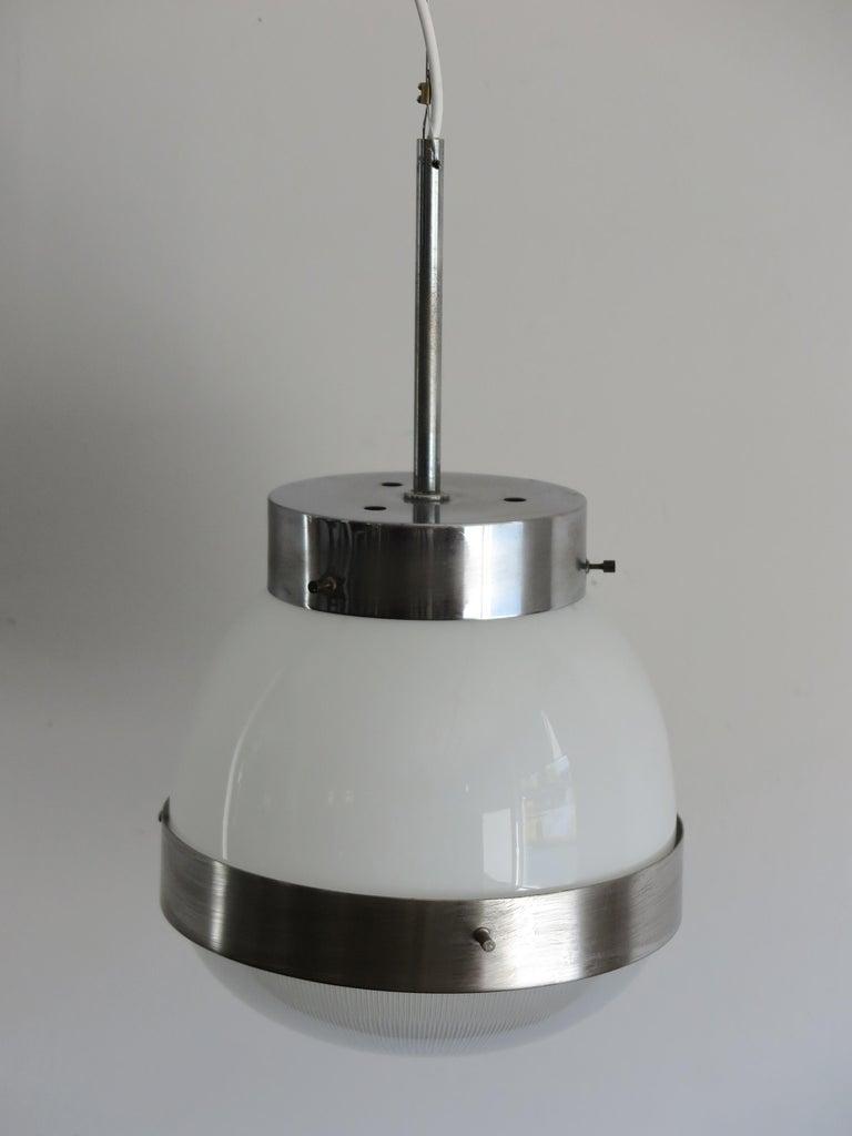 Sergio Mazza for Artemide Italian Glass Pendant Lamp, 1960s In Good Condition For Sale In Modena, IT