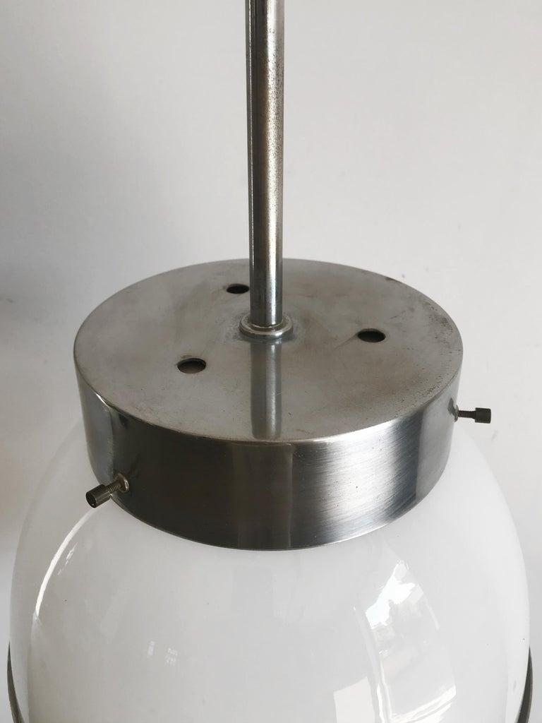 Mid-20th Century Sergio Mazza for Artemide Italian Glass Pendant Lamp, 1960s For Sale