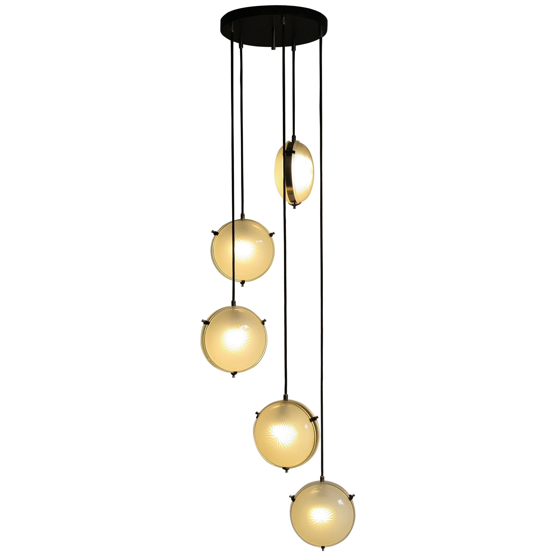 Sergio Mazza for Artemide Italian Mid-Century Modern Glass Pendant Lamp, 1960s