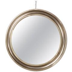 Sergio Mazza for Artemide Round Mirror, Metal Italy, 1960s, Signed 7 Nov 1961