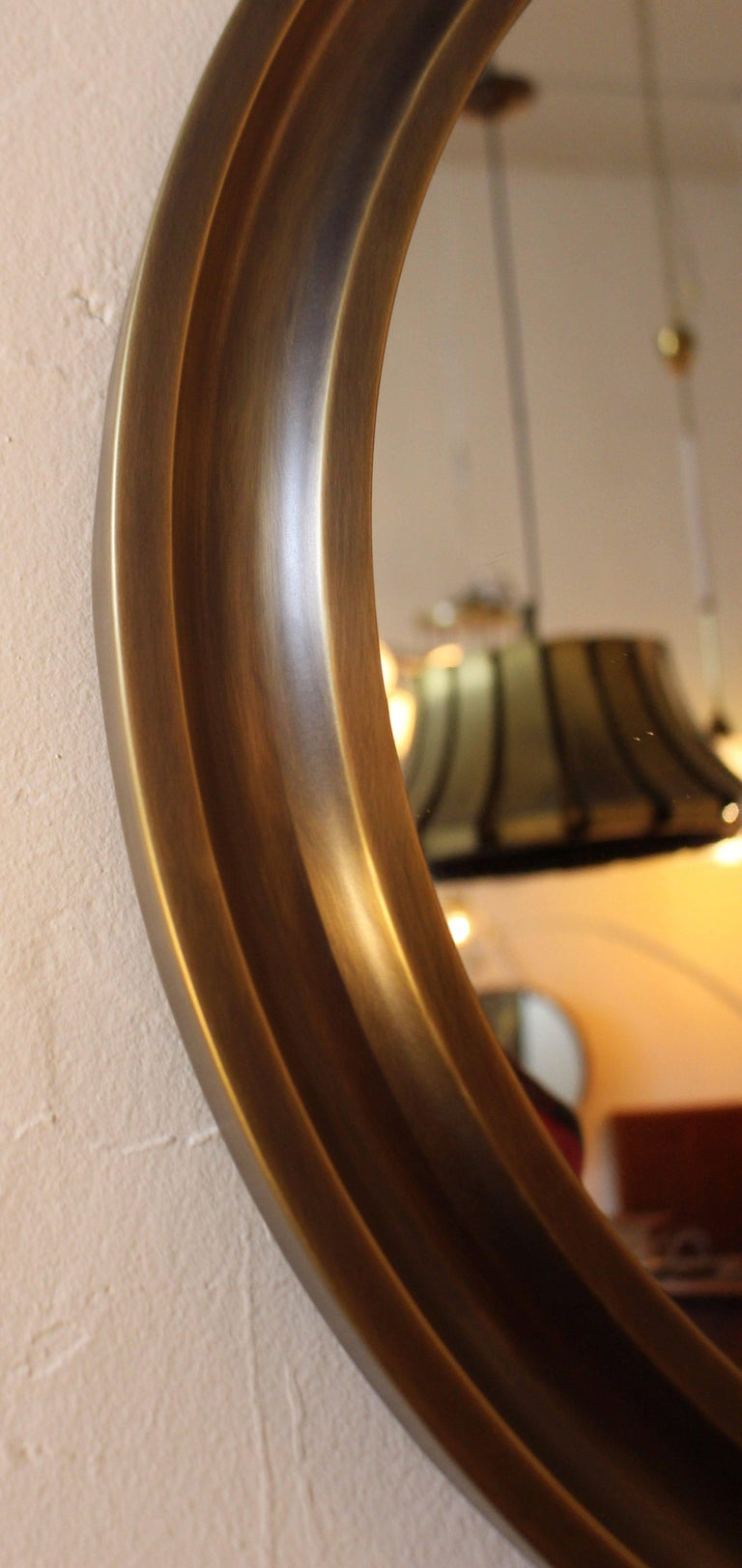 Mid-Century Modern Sergio Mazza Pair of Brass Mirrors For Sale