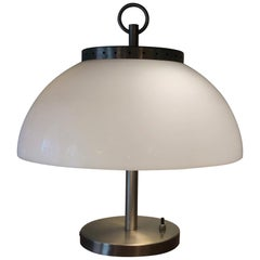 Sergio Mazza Table Lamp Metal Crome Plexiglass, 1968, Italy
