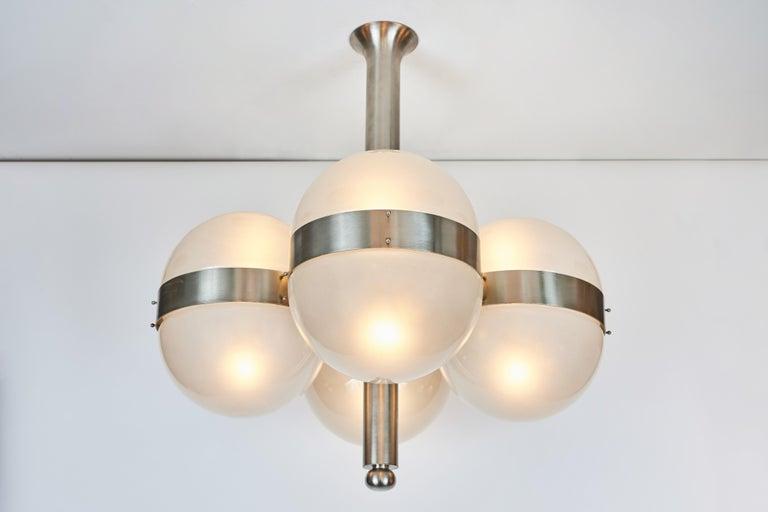 Mid-Century Modern Sergio Mazza 'Tetraclio' Chandelier for Artemide, 1960s For Sale