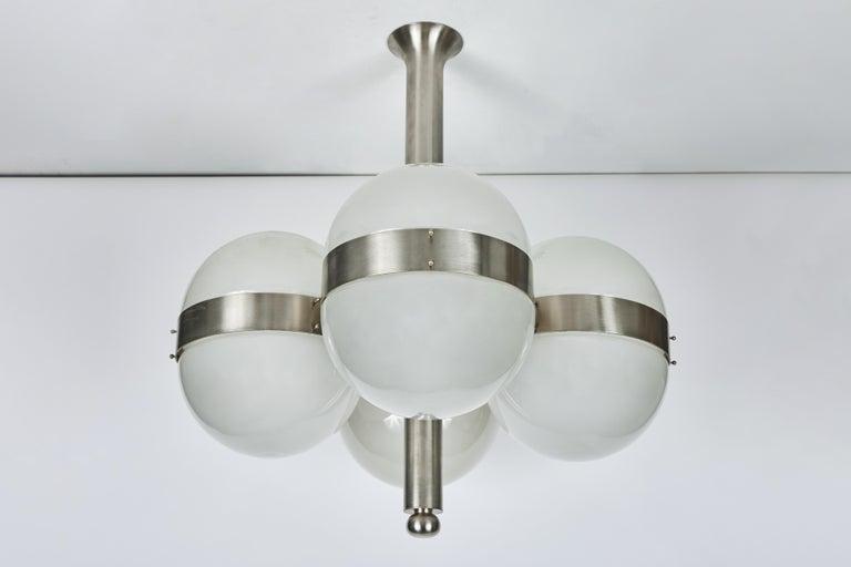 Pressed Sergio Mazza 'Tetraclio' Chandelier for Artemide, 1960s For Sale