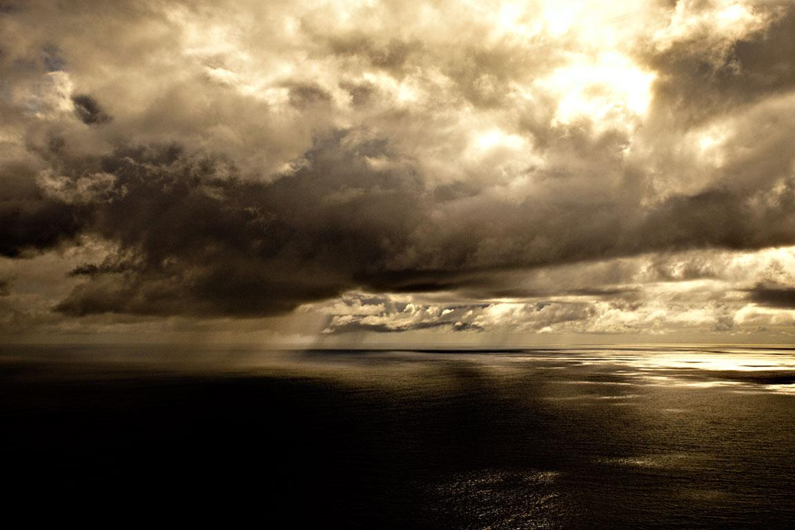 Tropical Storm I, Sunset Atlantic Ocean, Brazil