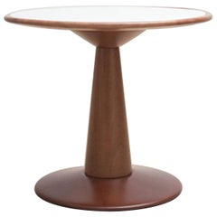 Sergio Rodrigues Beechwood Occasional Side Table Offered by La Porte