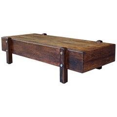 Sergio Rodrigues Coffee Table Bench Rosewood Vintage Midcentury Cabinmodern McM