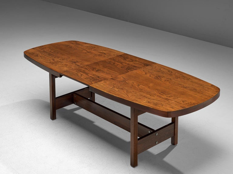 Sergio Rodrigues Extendable Rosewood Dining Table For Sale 1