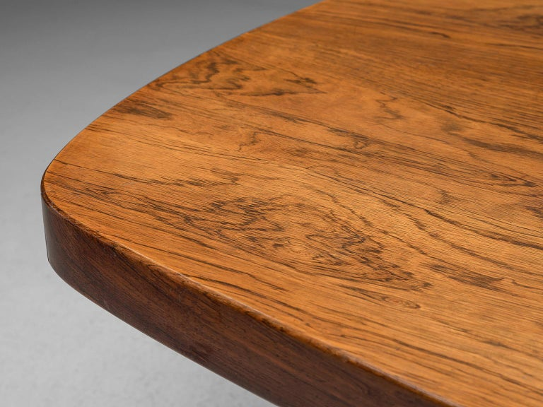 Sergio Rodrigues Extendable Rosewood Dining Table For Sale 3