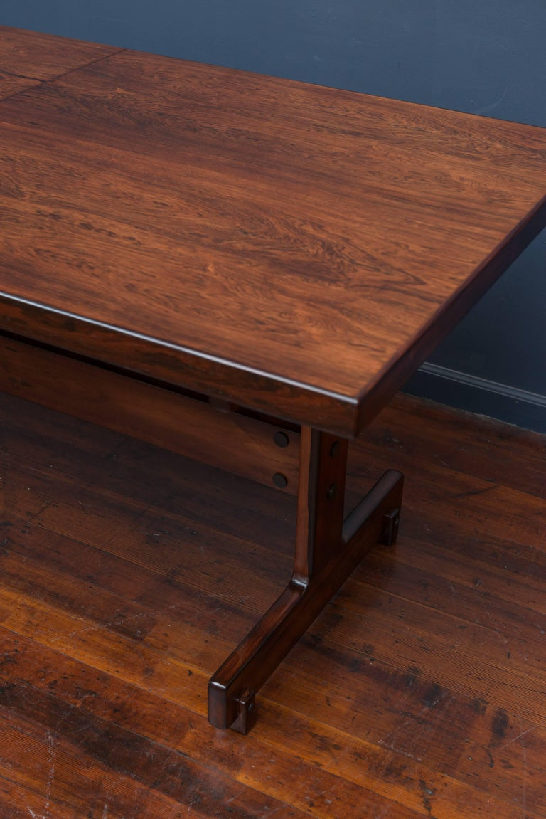 Mid-Century Modern Sergio Rodrigues Extension Dining Table For Sale