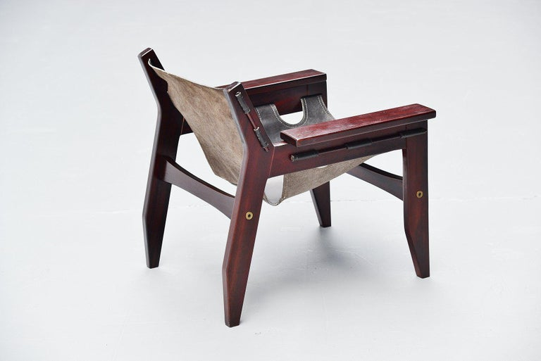 Sergio Rodrigues Kilin Chairs Pair Oca, Brazil, 1973 In Good Condition For Sale In Roosendaal, Noord Brabant