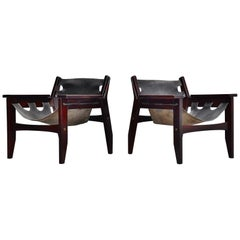 Sergio Rodrigues Kilin Chairs Pair Oca, Brazil, 1973