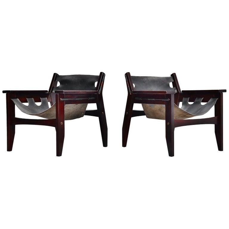 Sergio Rodrigues Kilin Chairs Pair Oca, Brazil, 1973 For Sale