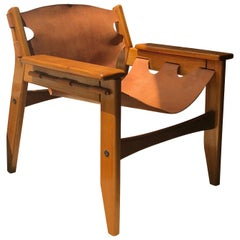 """Sergio Rodrigues, """"Kilin"""" Pair of Armchairs with Leather Seats"""