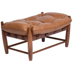 Sérgio Rodrigues Midcentury Brazilian Mole Bench with Freijó Structure, 1957