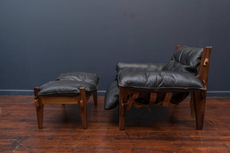 Brazilian Sergio Rodrigues Mischievous Chair and Ottoman For Sale