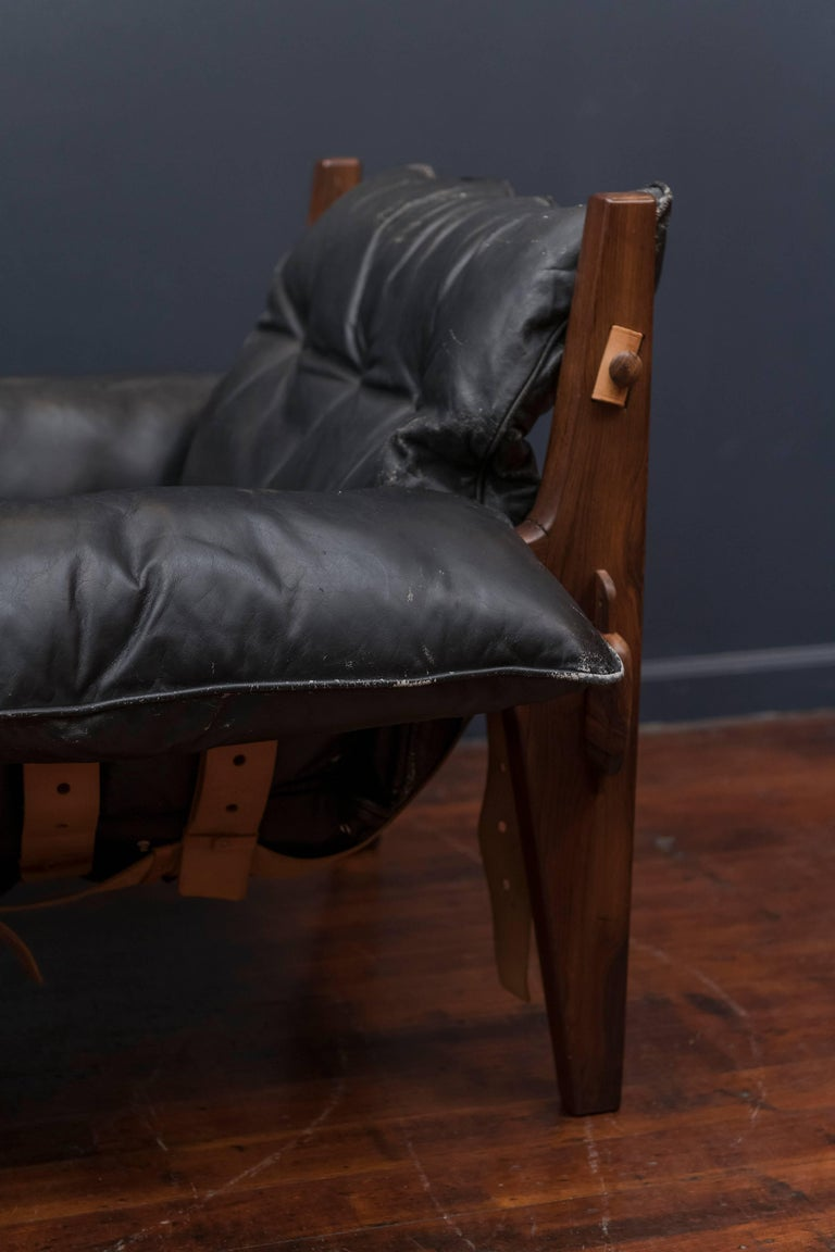 Mid-20th Century Sergio Rodrigues Mischievous Chair and Ottoman For Sale