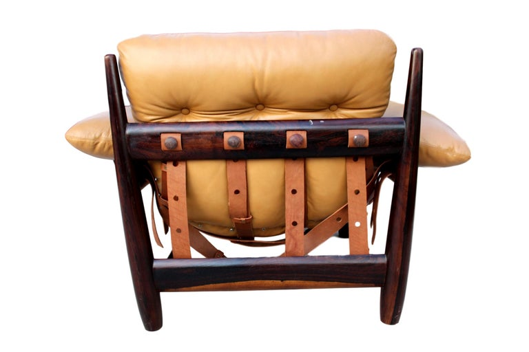 Brazilian Sergio Rodrigues Mole Lounge Chair with Ottoman, 1957 For Sale