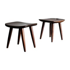 Sergio Rodrigues 'Sonia' Stools in Brazilian Rosewood