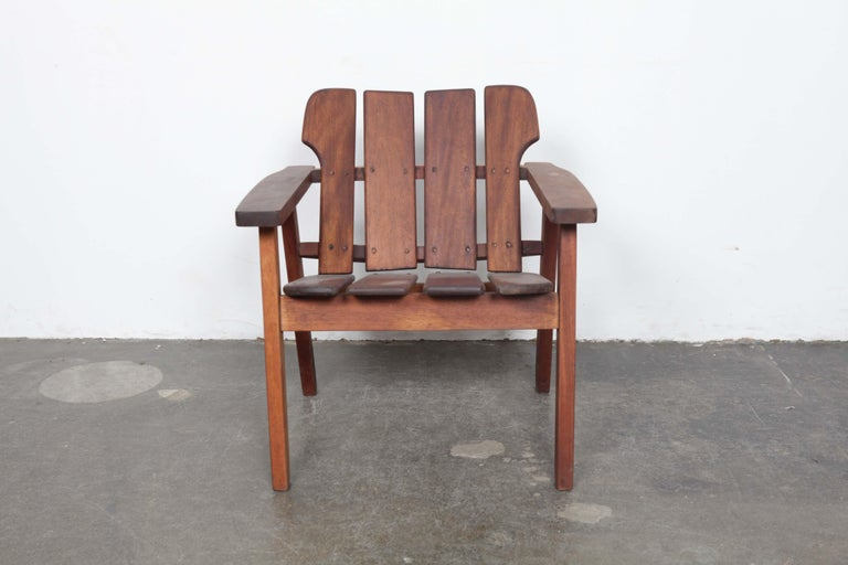 Beautifully crafted Brazilian midcentury accent chair, circa 1960s model