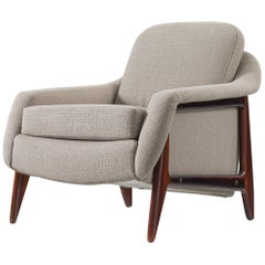 Sergio Rodrigues to Be Reupholstered 'Stella' Lounge Chair in Rosewood