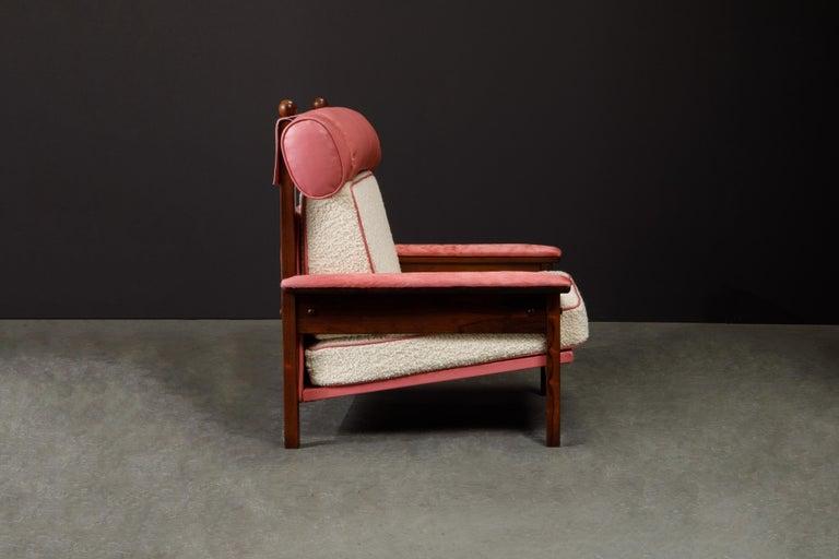 Sergio Rodrigues 'Tonico' Jacaranda, Leather and Alpaca Armchairs, 1960s Brazil For Sale 4
