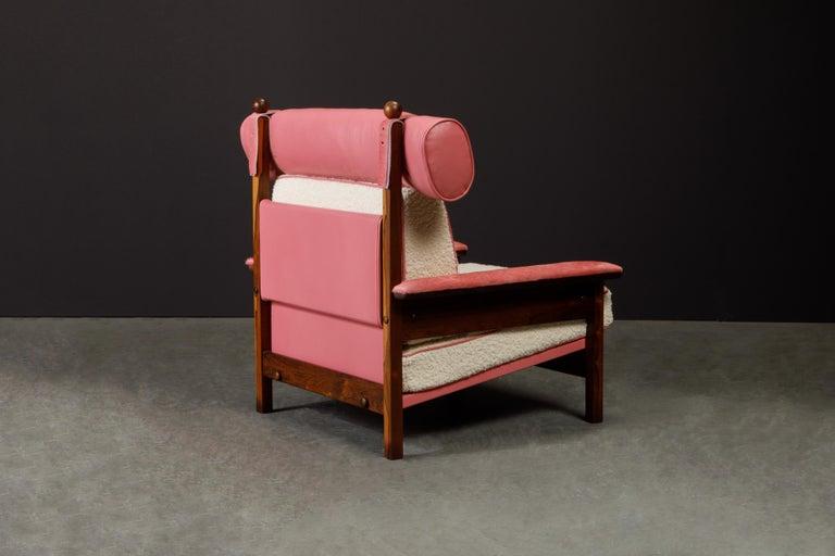 Sergio Rodrigues 'Tonico' Jacaranda, Leather and Alpaca Armchairs, 1960s Brazil For Sale 5