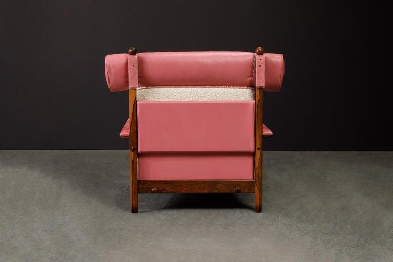 Sergio Rodrigues 'Tonico' Jacaranda, Leather and Alpaca Armchairs, 1960s Brazil For Sale 6