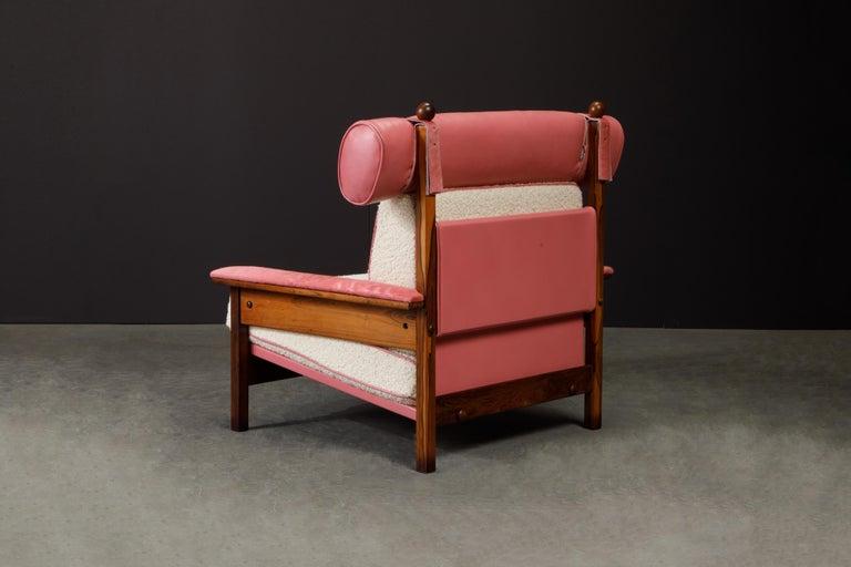Sergio Rodrigues 'Tonico' Jacaranda, Leather and Alpaca Armchairs, 1960s Brazil For Sale 7