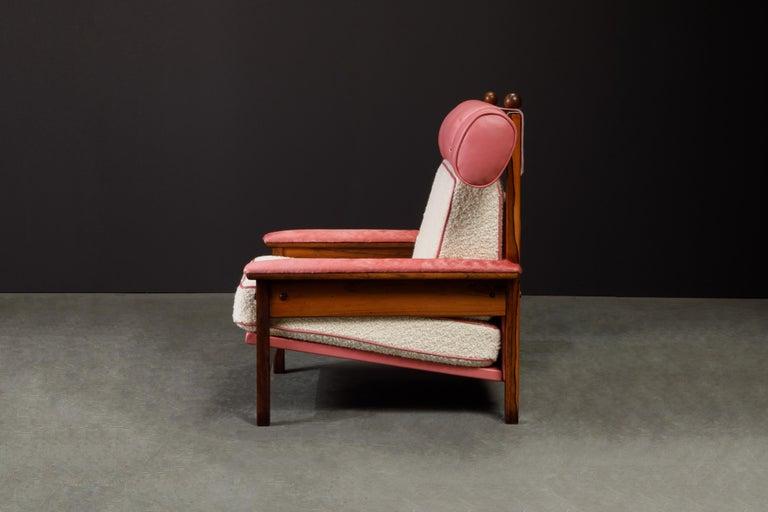 Sergio Rodrigues 'Tonico' Jacaranda, Leather and Alpaca Armchairs, 1960s Brazil For Sale 8