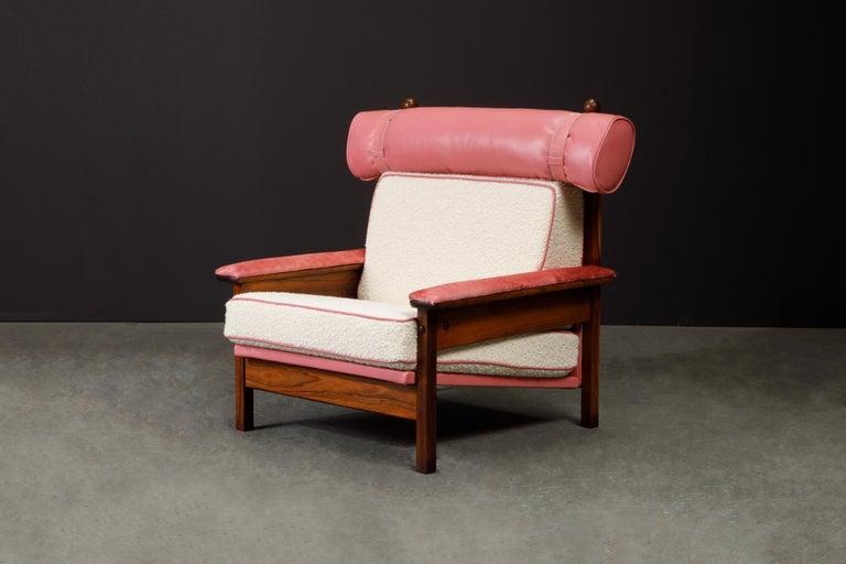 Sergio Rodrigues 'Tonico' Jacaranda, Leather and Alpaca Armchairs, 1960s Brazil For Sale 9