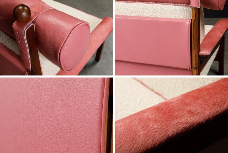 Sergio Rodrigues 'Tonico' Jacaranda, Leather and Alpaca Armchairs, 1960s Brazil For Sale 11